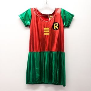 Robin costume - tunic / skirt, belt, cape, gauntle